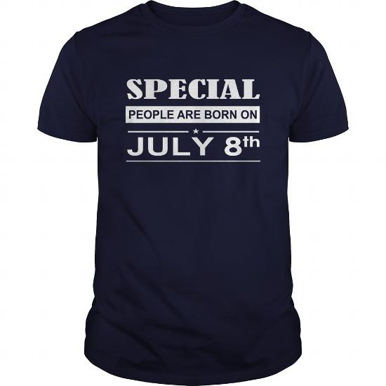 July 08 Birthday T-Shirt, Special People Are Born On July 08 Shirts, July 08 Birthday July 08 July 08 T Shirts, Special People Born On July 08 Hoodie Vneck