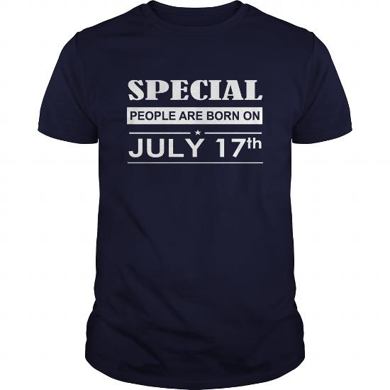 July 17 Birthday T-Shirt, Special People Are Born On July 17 Shirts, July 17 Birthday July 17 July 17 T Shirts, Special People Born On July 17 Hoodie Vneck
