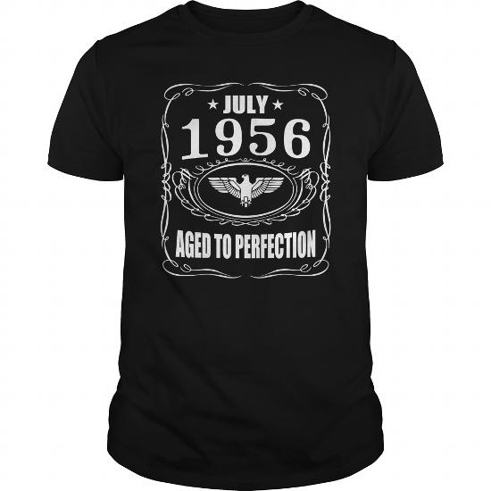 July 1956 Aged To Perfection Shirts, July 1956 T-Shirt, Born July 1956, July 1956 Aged To Perfection, 1956S T-Shirt,born In July 1956