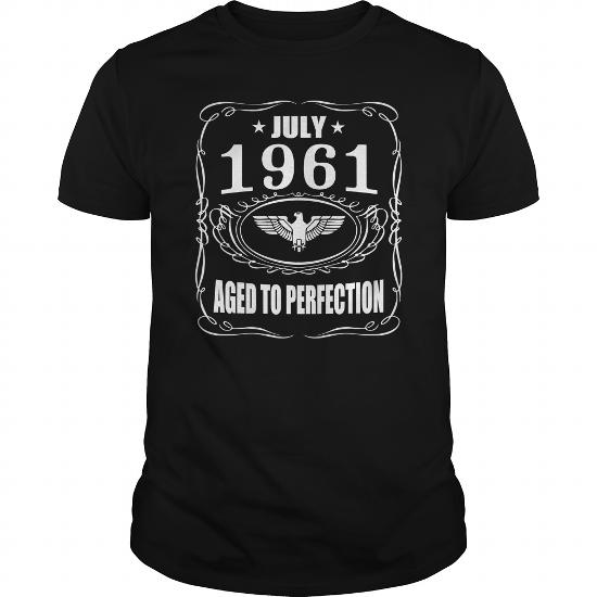 July 1961 Aged To Perfection Shirts, July 1961 T-Shirt, Born July 1961, July 1961 Aged To Perfection, 1961S T-Shirt,born In July 1961
