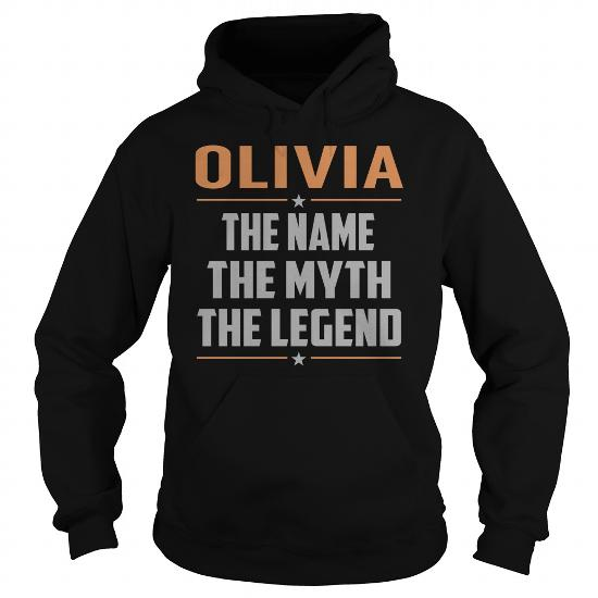 Olivia The Myth, Legend – Last Name, Surname T-Shirt