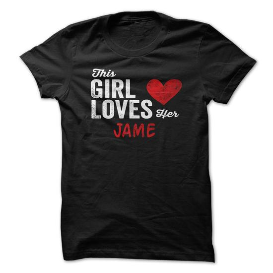 This Girl Loves Her Jame Personalized Name T-Shirt