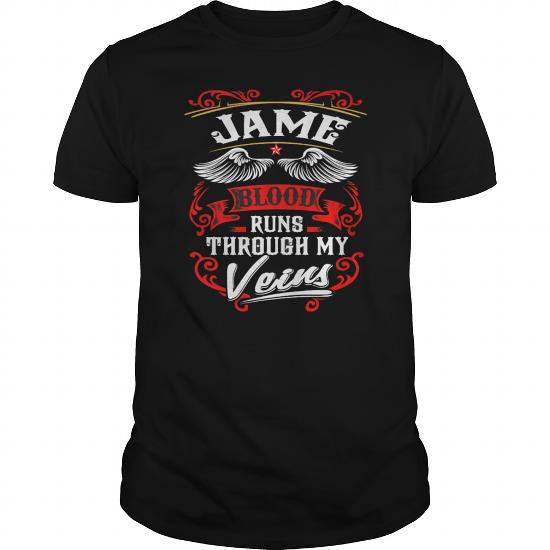 Best Jamee Blood Runs Through My Veins-Front Shirt