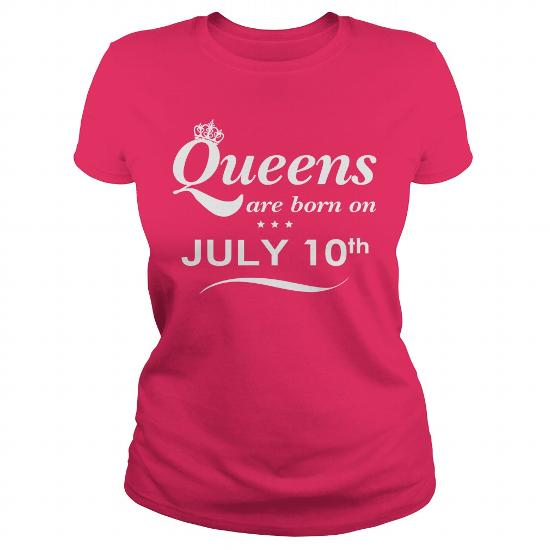 July 10 Shirts Queens Are Born On July 10 Shirt July 10 T-Shirt July 10 Queen Born July 10 July 10 Tshirts Queens Born On July 10 Hoodie Vneck